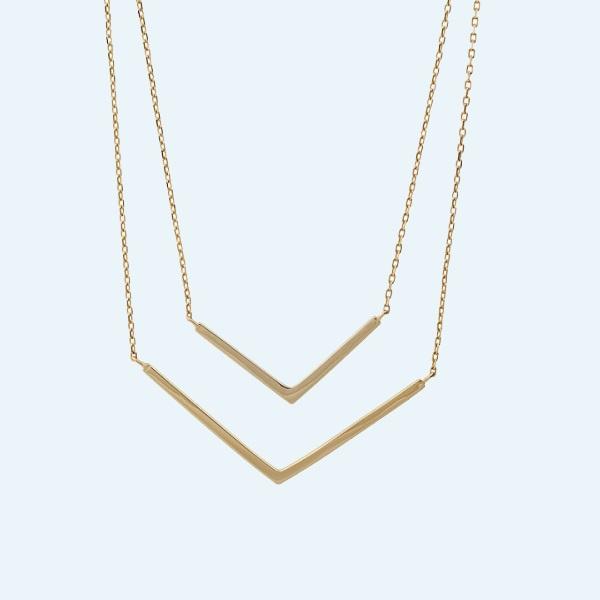 Collar Plata Sterling 925 Bañado En Oro 18K